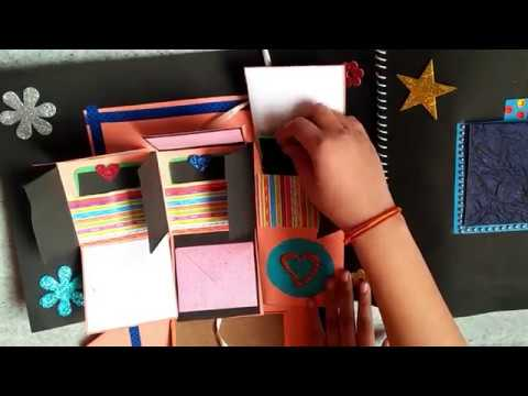 DIY SCRAPBOOK MAKING IDEAS | BIRTHDAY SCRAPBOOK IDEAS BY DIMPLE CRAFTS