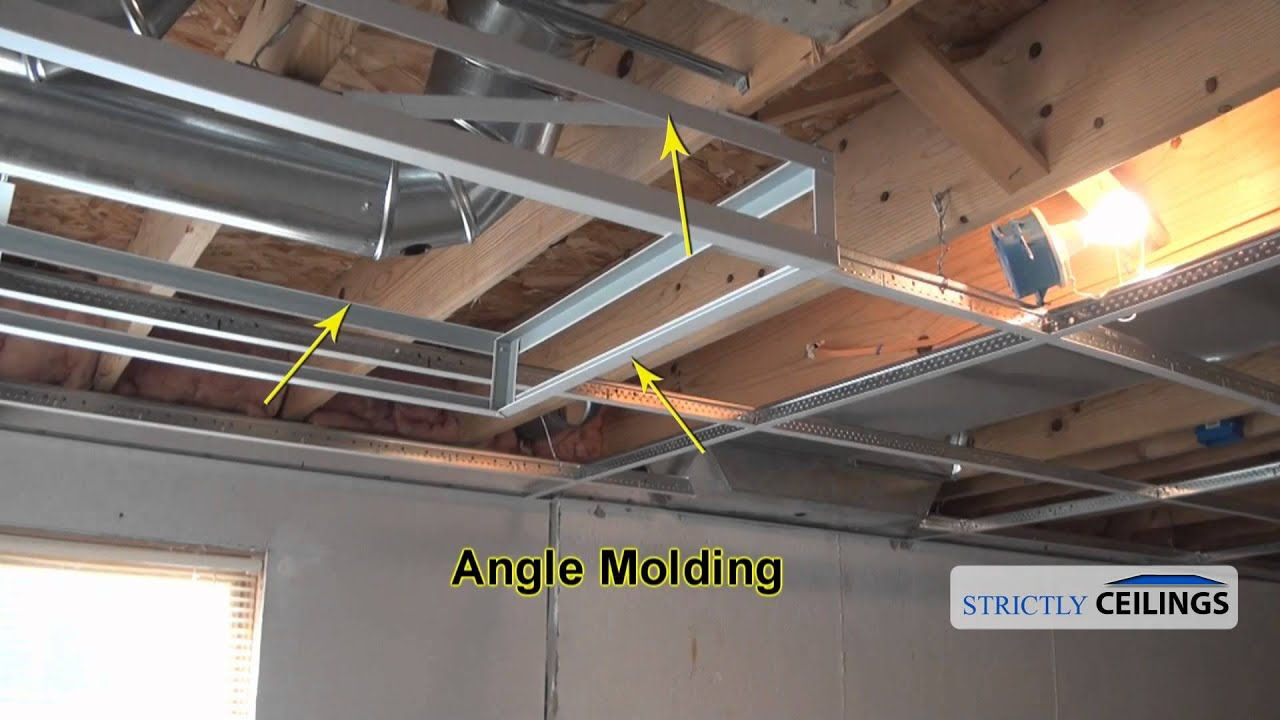 how to install a hanging ceiling