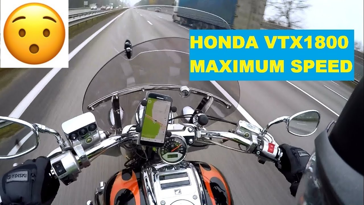 Moto Vlog  Honda VTX1800 TOP SPEED [Don't try this at home]