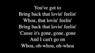 You've Lost That Lovin' Feeling - Hall and Oates : Lyrics