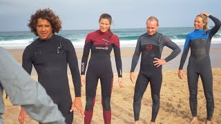 Norwegian National Surf Team in Ericeira, Portugal
