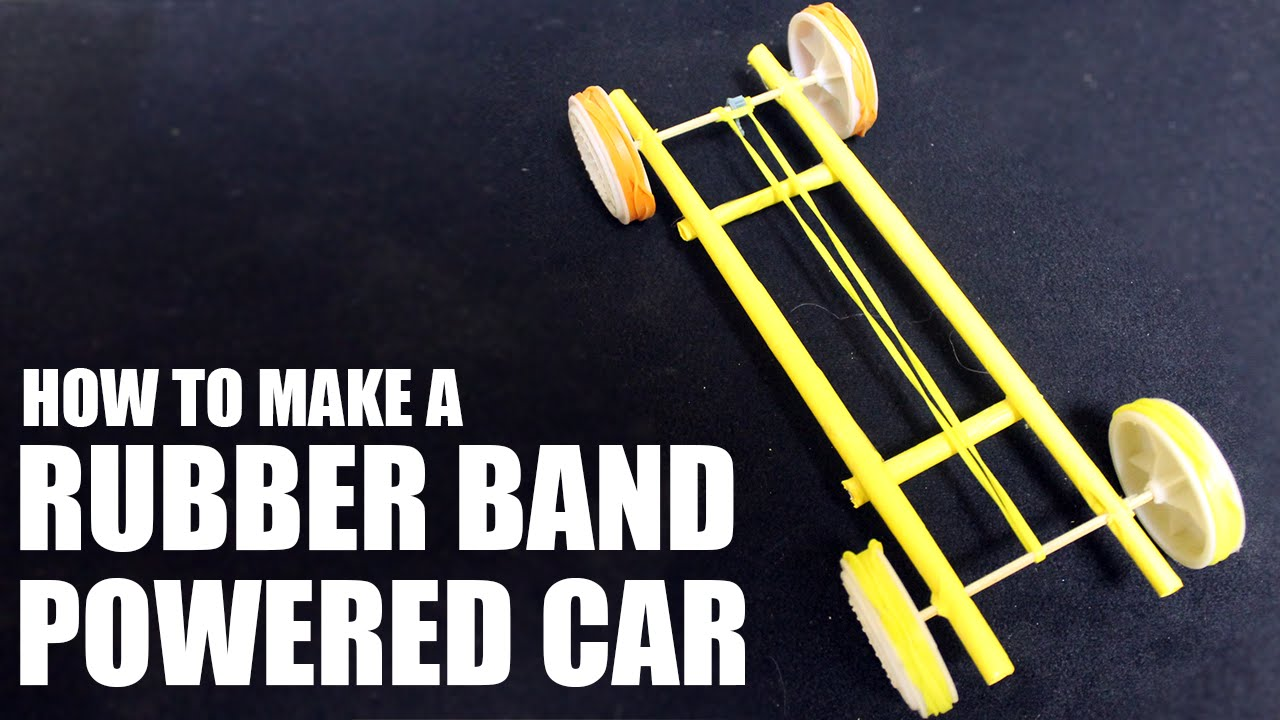 How To Make A Rubber Band Powered Car Paper Car Tutorial