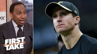 Leaving Drew Brees off top-5 playoff QBs list was a 'mistake' - Stephen A. Smith | First Take