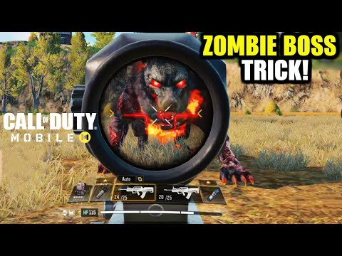 Call Of Duty Mobile Zombie Dog Boss Trick to Kill faster without taking any damage | COD Mobile