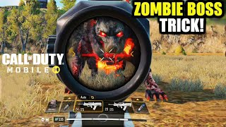 Call Of Duty Mobile Zombie Dog Boss Trick to Kill faster without taking any damage   COD Mobile