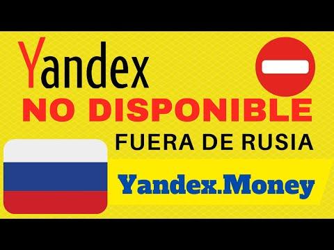 🔔YANDEX MONEY NO DISPONIBLE FUERA DE RUSIA 🚨NO CREAR CUENTA NI TARJETAS VIRTUALES