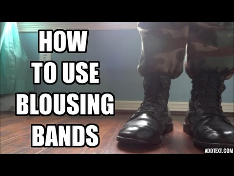 How to use Blousing Bands