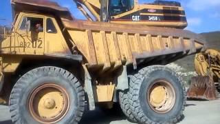 Caterpillar dump truck 777 and 345