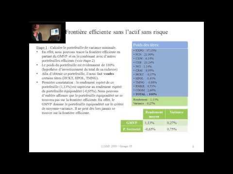 Finance Approfondie - Présentation groupe 05