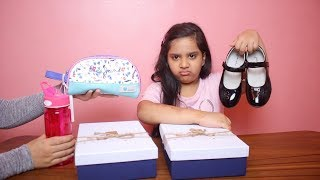 تحدي صندوق الغامض بأغراض المدرسة !!Mystery Box of Back to School Switch-Up Challenge!