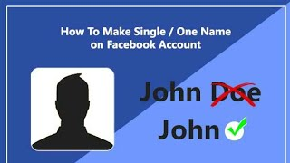 How to make single name in facebook|Bangla tutorial video |