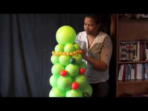Arbol De Navidad Con Globos Youtube