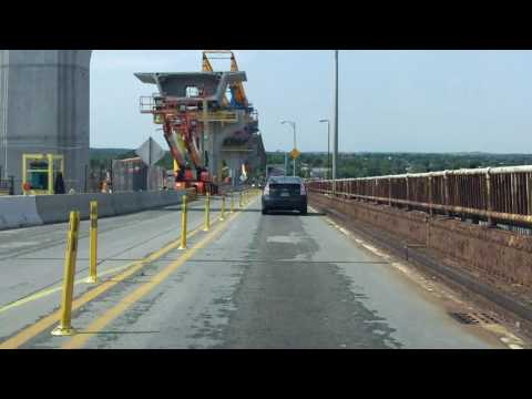 Bayonne Bridge southbound [Early 2016 Construction Update]