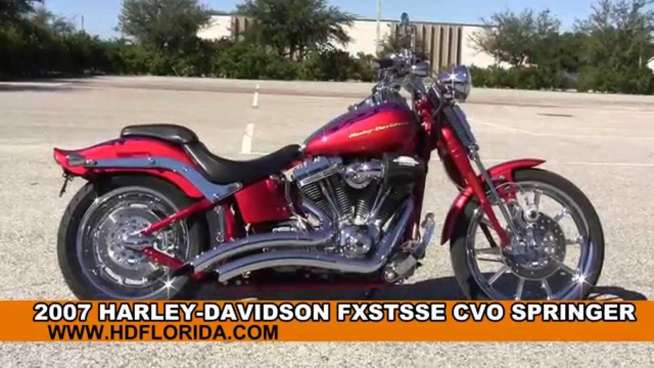 Used 2007 harley davidson cvo springer motorcycles for sale