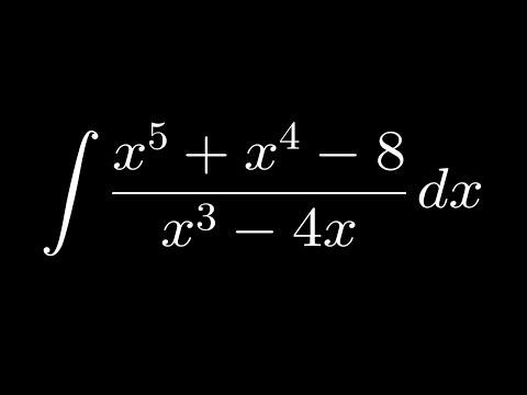 Интегриране на рационална функция (с деление на полиноми)