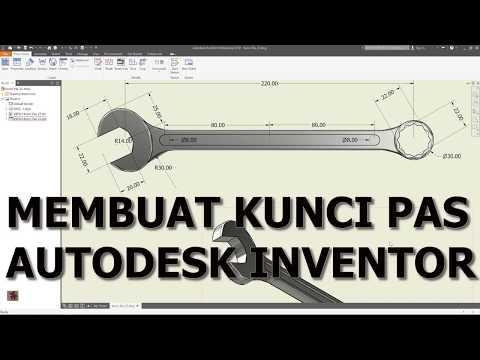 Autodesk Inventor : Tutorial Membuat Kunci Pas