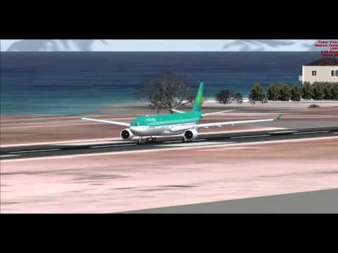 FSX Airbus A330-200/300 Takeoff Compilation At Rhodes Airport.