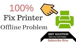 How to fix the Printer Offline error in Windows 8 or Window 10