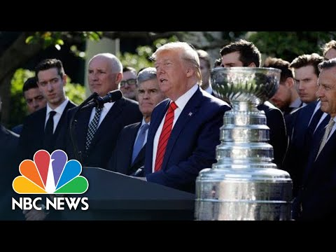 President Donald Trump Brings Up Impeachment While Honoring 2019 Stanley Cup Champions   NBC News