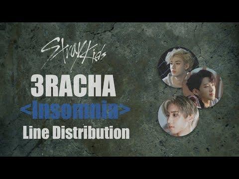Stray Kids 3RACHA Insomnia (Demo Ver.) Line Distribution