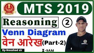 Class 02 #MTS 2019 | Reasoning by Noushad sir | Vann Diagram (वेन आरेख) (Part-2)