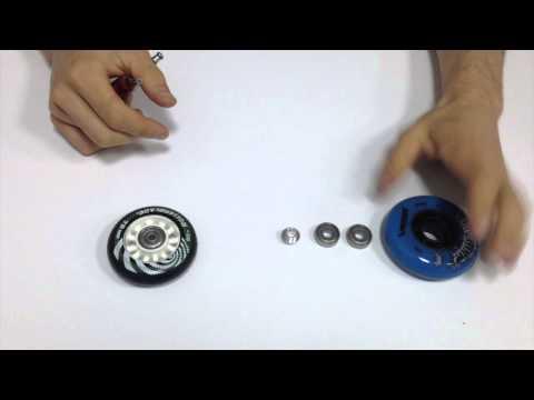Как вытащить подшипники из колеса для роликов