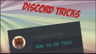 Discord Tricks such as colored text and more!