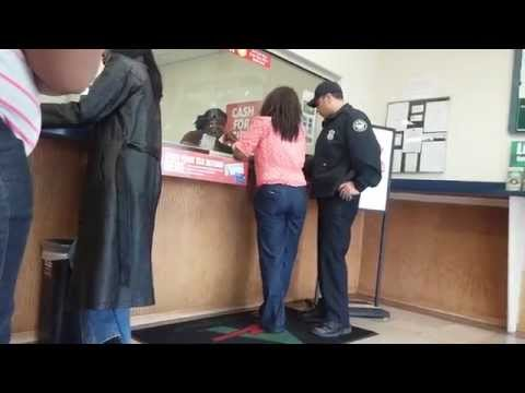 Lady gets arrested for check fraud at a check cashing store