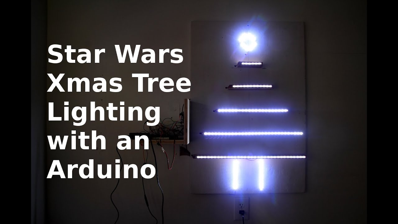 diy making a christmas tree w an arduino star wars lighting pattern youtube