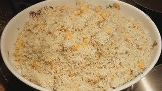 Basmati Rice Pilaf With Garbanzo Beans | Rice Pilau With Chole