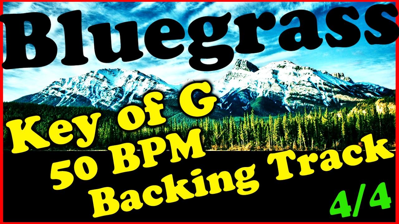 Key Of G Bluegrass Backing Track 50 Bpm Extended Chords Jam Track