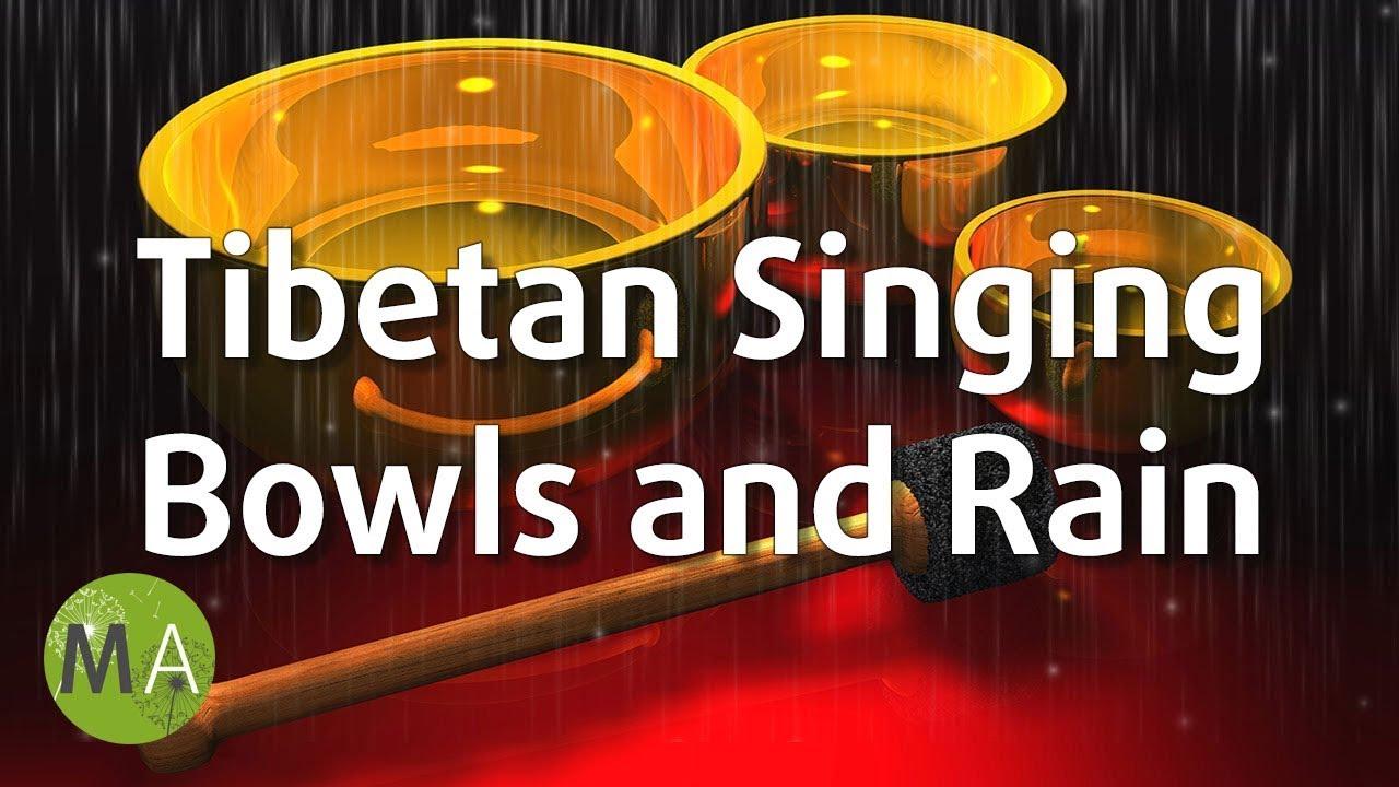 Tibetan Singing Bowls with Rain - 5Hz Theta Meditation with Isochronic Tones