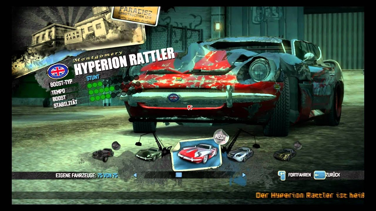Burnout Paradise Pc Save Game All Cars