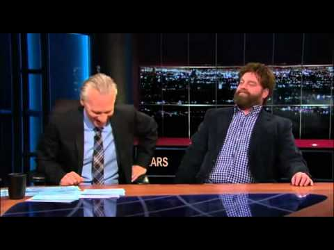 """Zach Galifianakis Smokes Weed On National Television """"Bill Maher's Show""""!"""