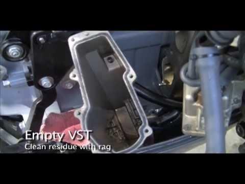 Yamaha F115 FS VST Filter Change Out - YouTube
