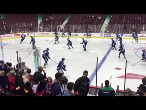 Canucks vs Oilers warmup, preseason 2016