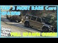 GTA 5 Online TOP 3 BEST Modded Cars! FULL *SOLO* Spawn Guide!