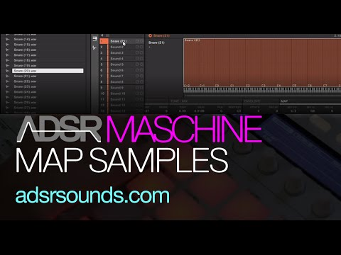 NI Maschine tutorial - Map samples to different notes and velocities