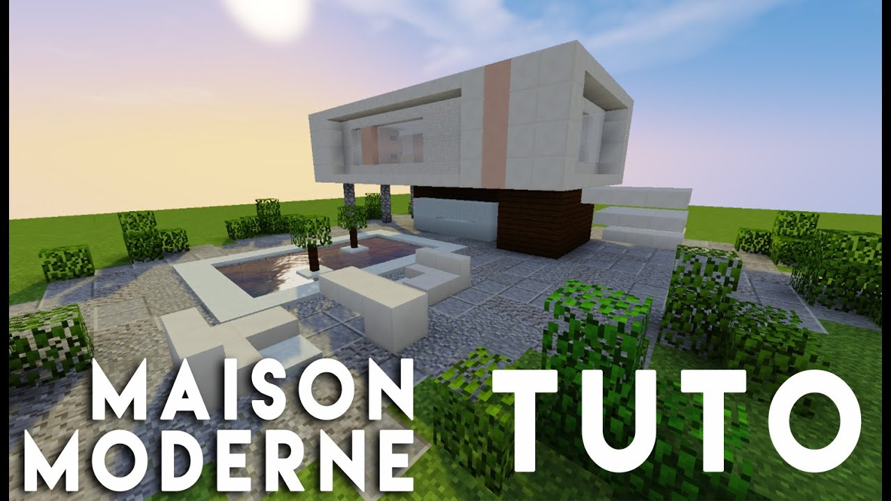 Minecraft tuto construction d 39 une maison moderne simple for Minecraft construction maison moderne
