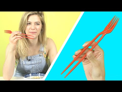 People Try Chopstick Gadgets