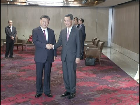 Chinese President Xi Jinping Meets with HKSAR Chief Executive