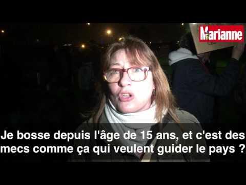 """""""Fillon en prison !"""", scandent les manifestants au meeting de François Fillon à Poitiers"""
