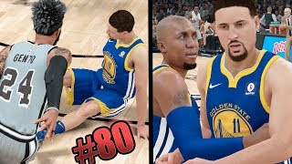 KLAY THOMPSON IS MAD! SNAPPING THE SPLASH BROS ANKLES!!  NBA 2k18 MyCAREER Ep 80