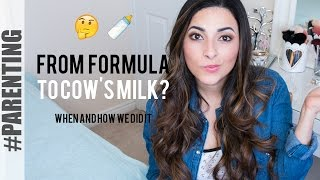 How Transition Year Old Formula Cows Milk