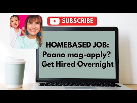 Homebased Job: Paano mag-apply? Get Hired Overnight | vlogoo6