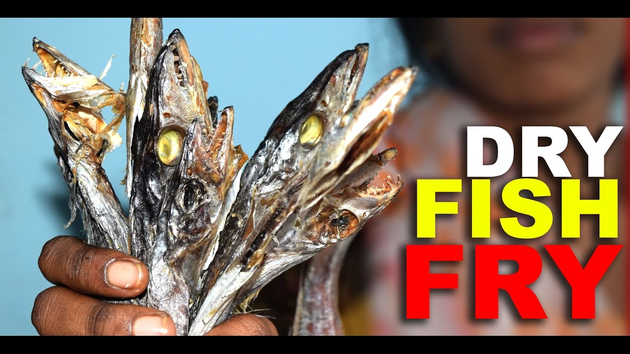 How to make dry hairtail fish fry karuvadu fry by for How to make fish fry