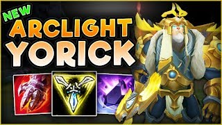 HOW OP IS THIS NEW TOWER TAKING RUNE ON YORICK?! ARCLIGHT YORICK TOP GAMEPLAY! - League of Legends