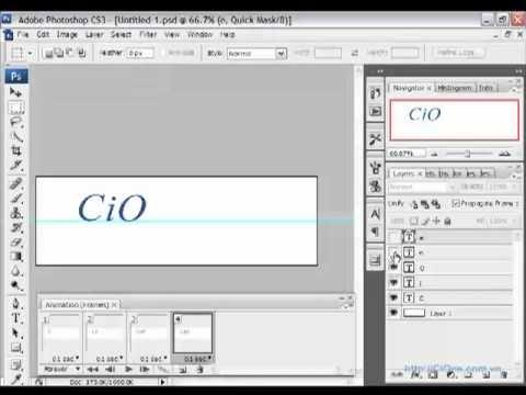 Tạo ảnh động GIF bằng Photoshop CS2, CS3 - CiOne.mp4