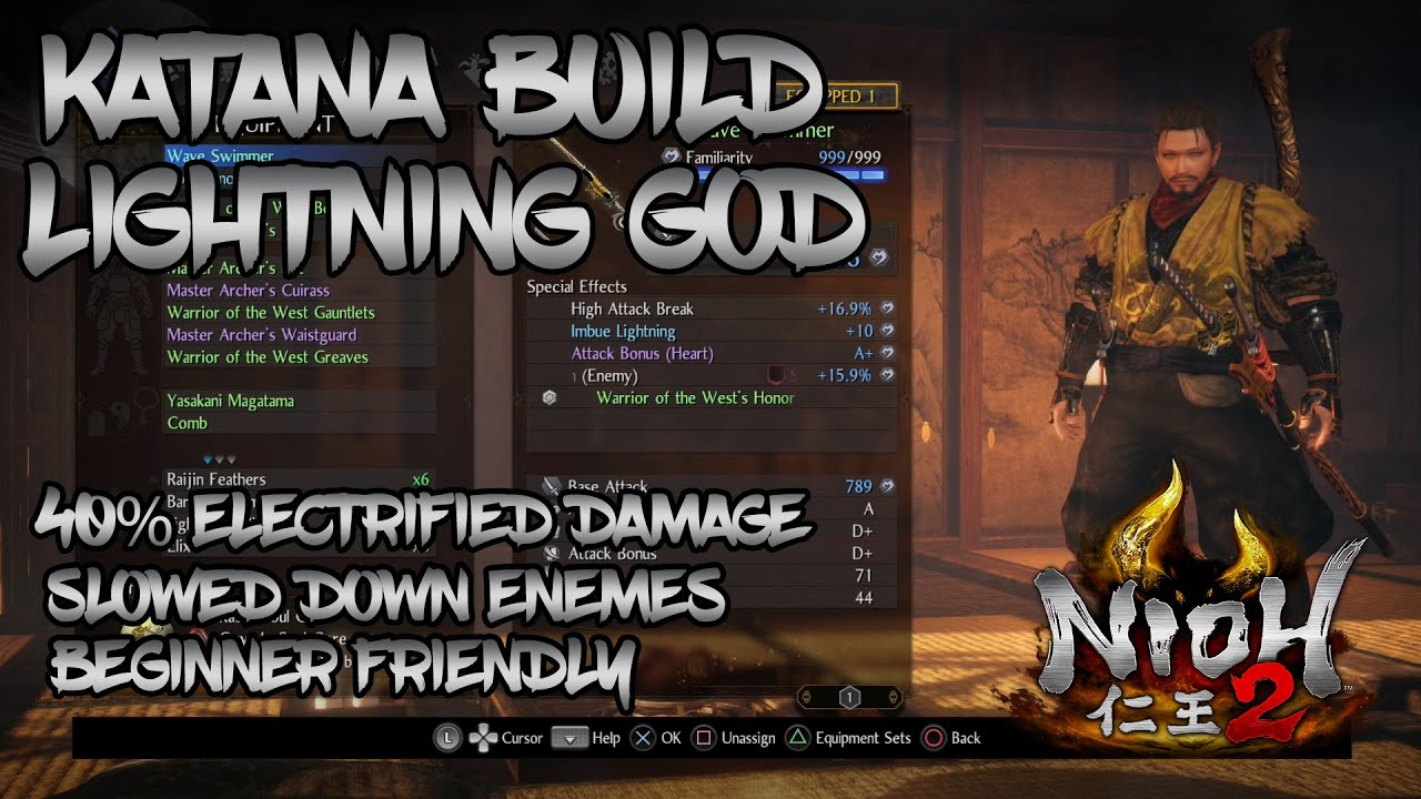 Nioh 2 - Katana Build - Lightning God