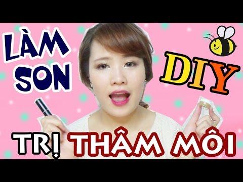 DIY SON 4 | SON TRỊ THÂM MÔI TỪ MẬT ONG | Ngọc Bube